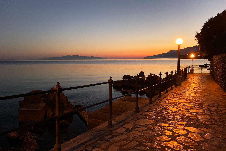 Lungomare at sunset, Opatija, Istra-Kvarner