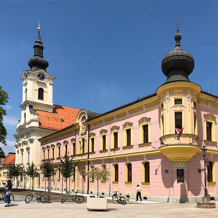 Vinkovci baroque town center, Slavonija