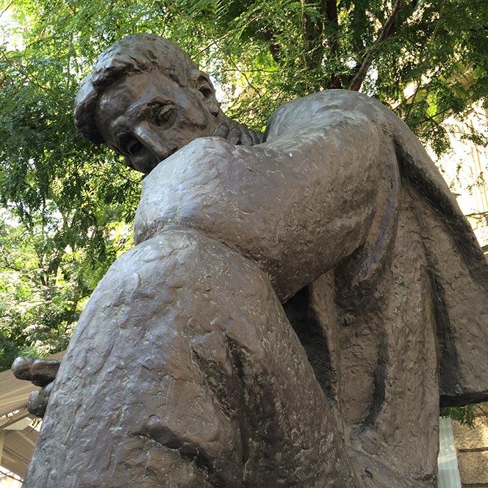 Nikola Tesla statue by Ivan Mestrovic