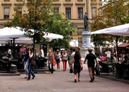 sidewalk cafes, Zagreb